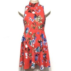 All About Me Dresses - All About Me Floral Fit and Flare Keyhole Dress